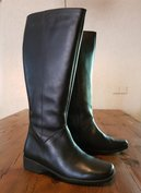 Size 37 Calf 41 Zara Black Leather