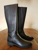 Size 38 Calf 31 Zara Black Leather