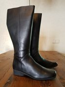 Size 42 Calf 46 Zara Black Leather