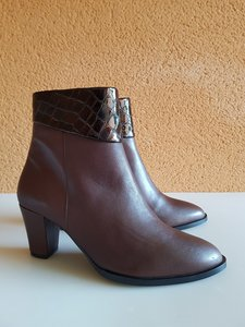 Size 40 Ankle 25 Ancona Brown Leather