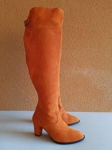 Size 38 Calf 44 Brixton Overknee Orange Suede