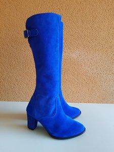 Size 36 Calf 31 Buckingham Cobalt Blue Suede