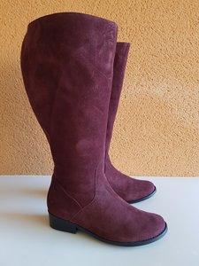 Size 38 Calf 49 Burleigh Bordeaux Suede