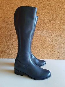 Size 40 Calf 38 Burleigh FLEECE Navy Blue Leather