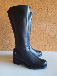 Size 36 Calf 33 Chelsea Black Leather