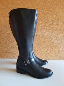 Size 38 Calf 47 Sienna Black Leather