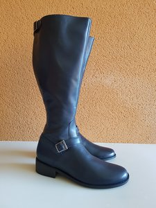 Size 42 Calf 41 Sienna Navy blue Leather