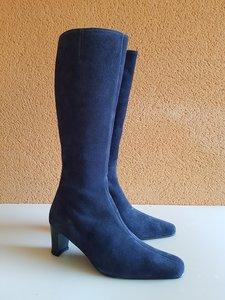 Size 38 Calf 32 Windsor Navy Blue Suede