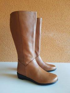Size 39 Calf 47 Zara Tan Leather