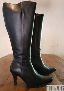 Size 37 Calf 39 Alba Black Leather