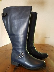 Size 37 Calf 45 Balmoral Navy Blue Leather