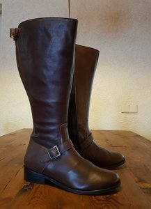 Size 39 Calf 43 Sienna Brown Leather